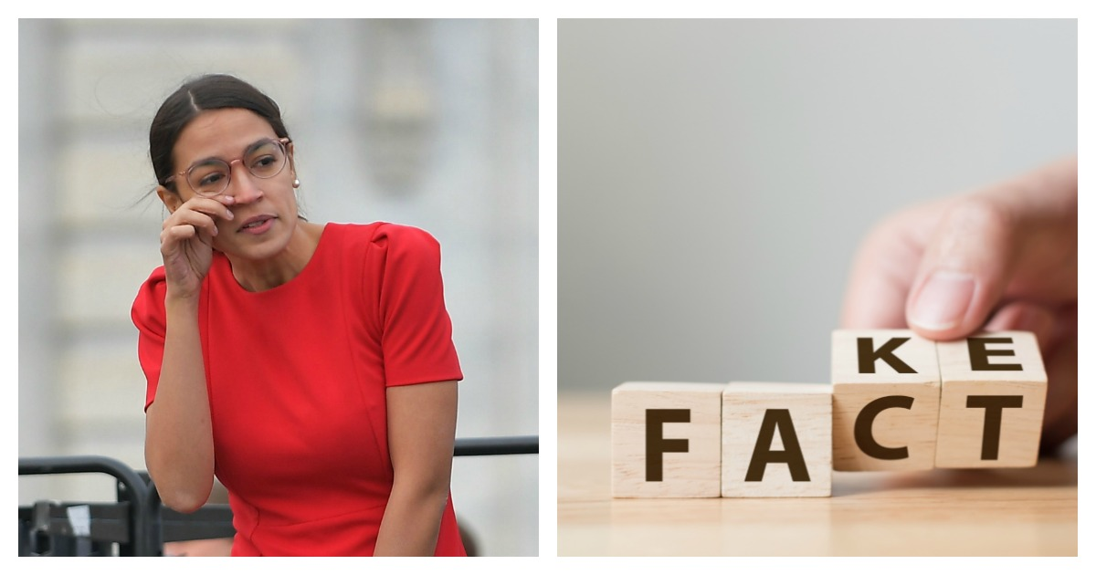 New York Democratic Rep. Alexandria Ocasio-Cortez freaked out on Twitter over fact checks. Left, MANDEL NGAN/AFP/Getty Images/ Right, SHUTTERSTOCK/ Monster Ztudio