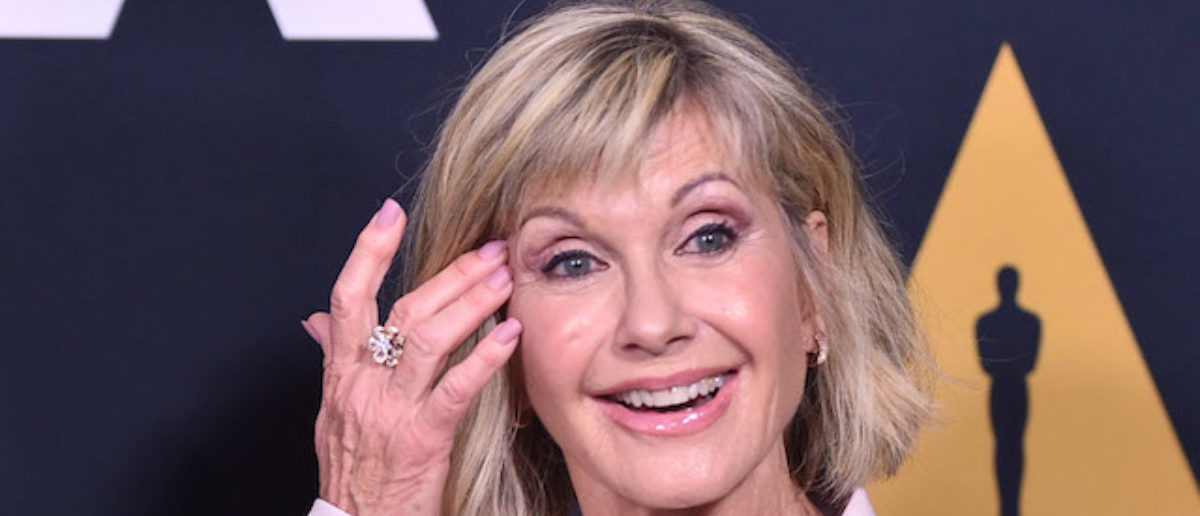 """Olivia Newton-John attends the Academy Presents """"Grease"""" (1978) 40th Anniversary at the Samuel Goldwyn Theater on August 15, 2018 in Beverly Hills, California. (Photo by Alberto E. Rodriguez/Getty Images)"""
