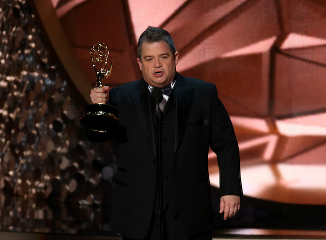 "Patton Oswalt accepts the award for Outstanding Writing For A Variety Special for ""Patton Oswalt: Talking For Clapping"" at the 68th Primetime Emmy Awards in Los Angeles, California, U.S., September 18, 2016. REUTERS/Mike Blake"