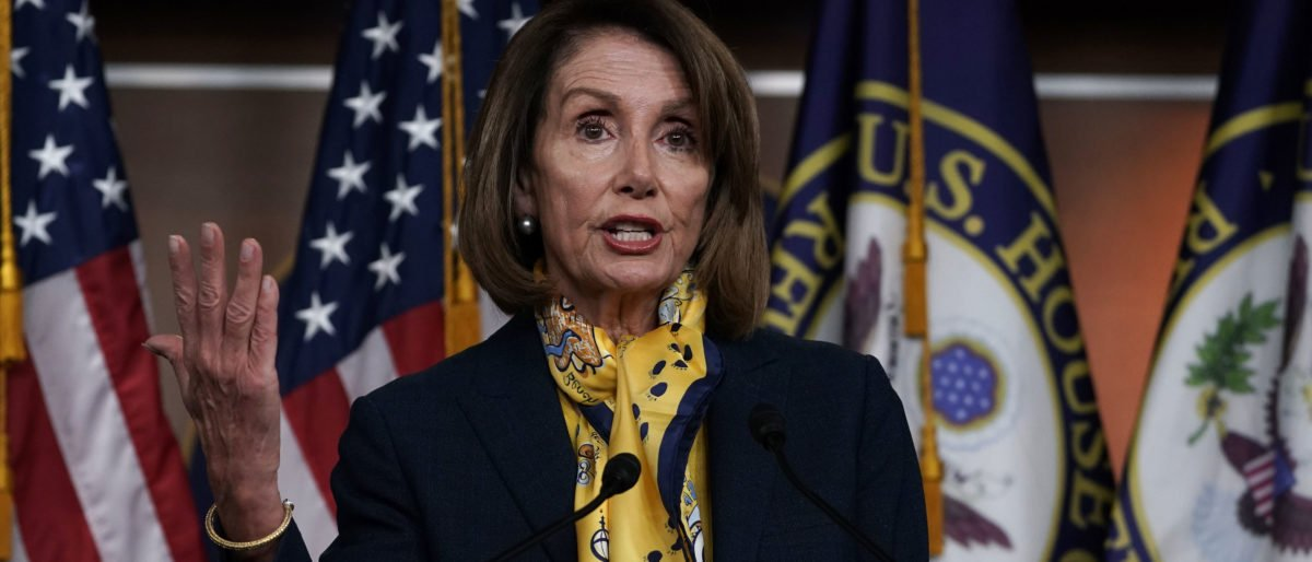 Speaker of the House Rep. Nancy Pelosi speaks during a weekly news conference (Alex Wong/Getty Images)