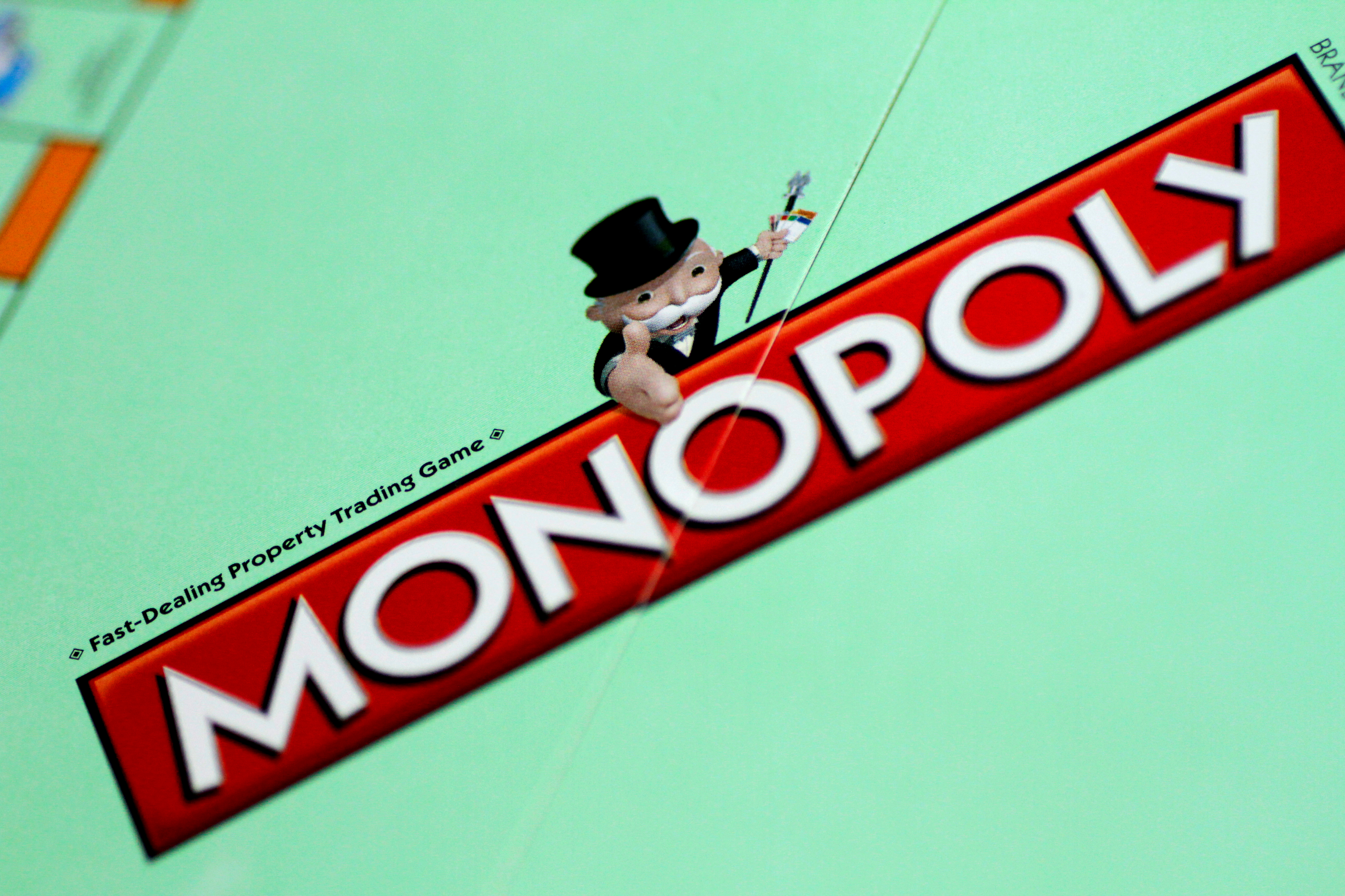 A Monopoly board game by Hasbro Gaming is seen in this illustration photo August 13, 2017. REUTERS/Thomas White/Illustration - RC18B307F130