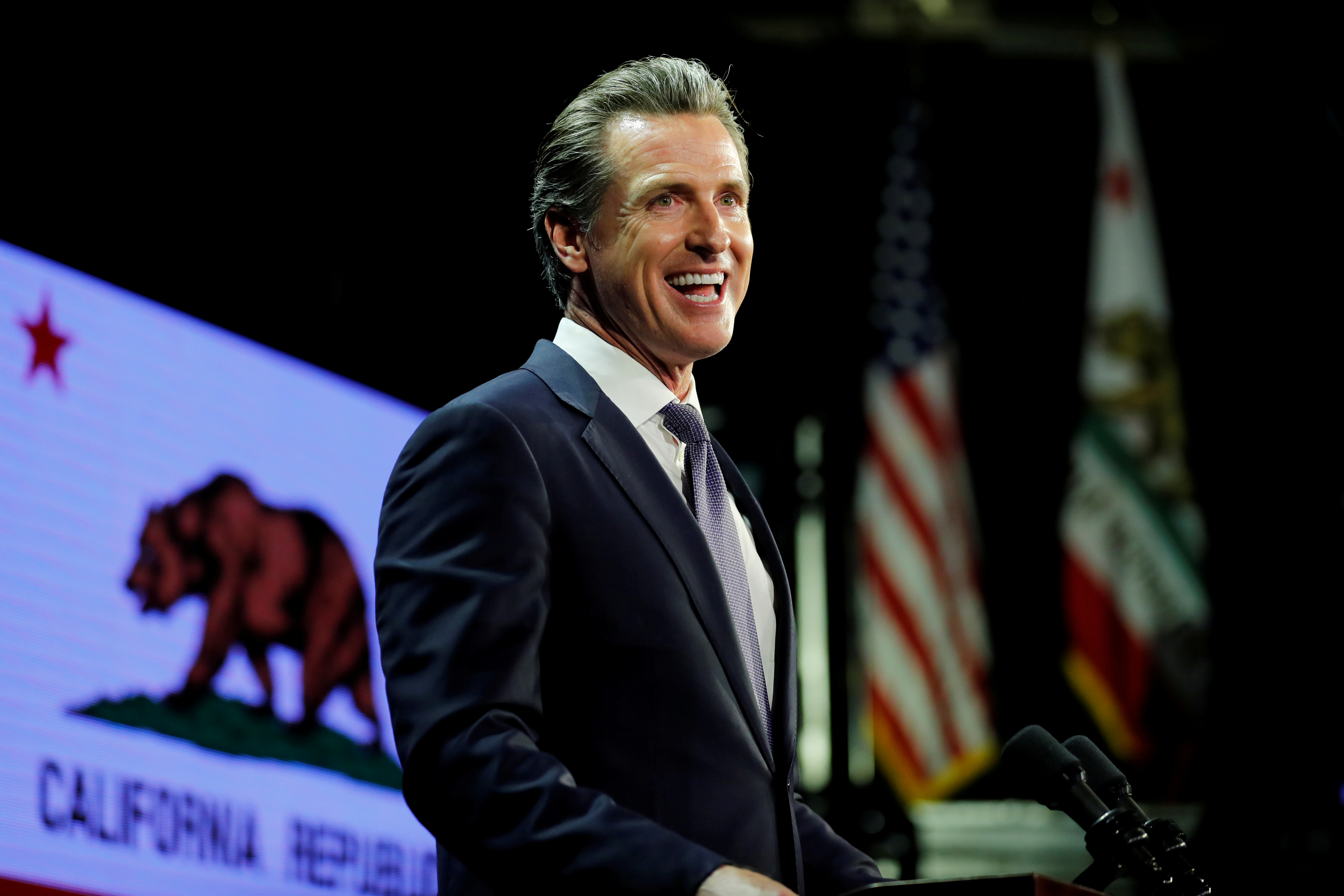 Democratic gubernatorial candidate Gavin Newsom elected governor of California