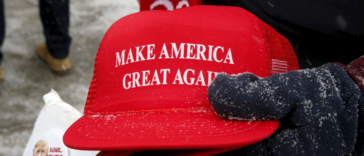 """A woman who attacked a man sporting a """"Make America Great Again"""" hat was apprehended Tuesday by Immigration and Customs Enforcement after authorities discovered she is unlawfully present in the U.S. (Photo: Jim Bourg/ Reuters)"""