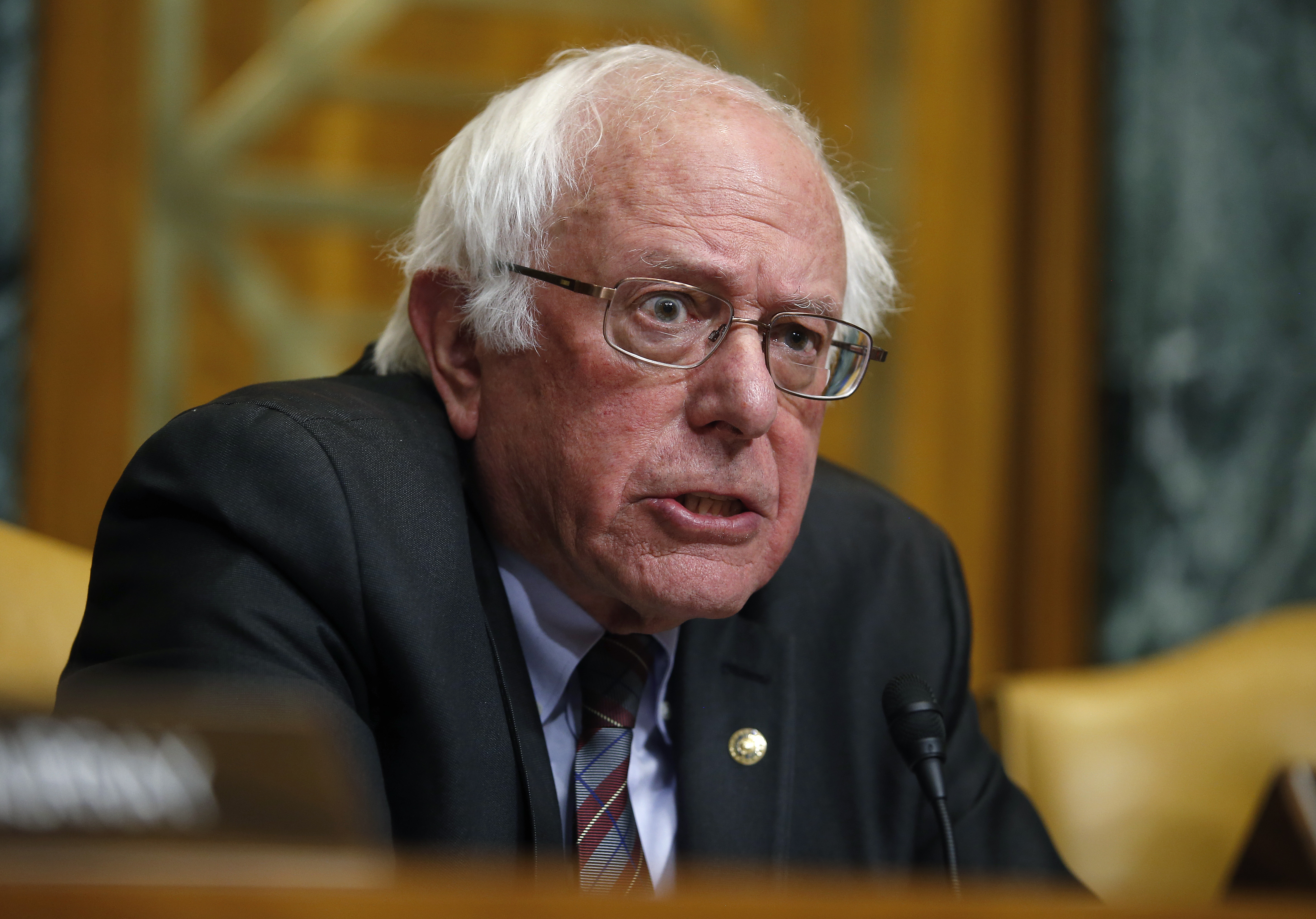 Senator Sanders speaks during Senate Budget Committee markup of FY2018 Budget reconciliation legislation on Capitol Hill in Washington