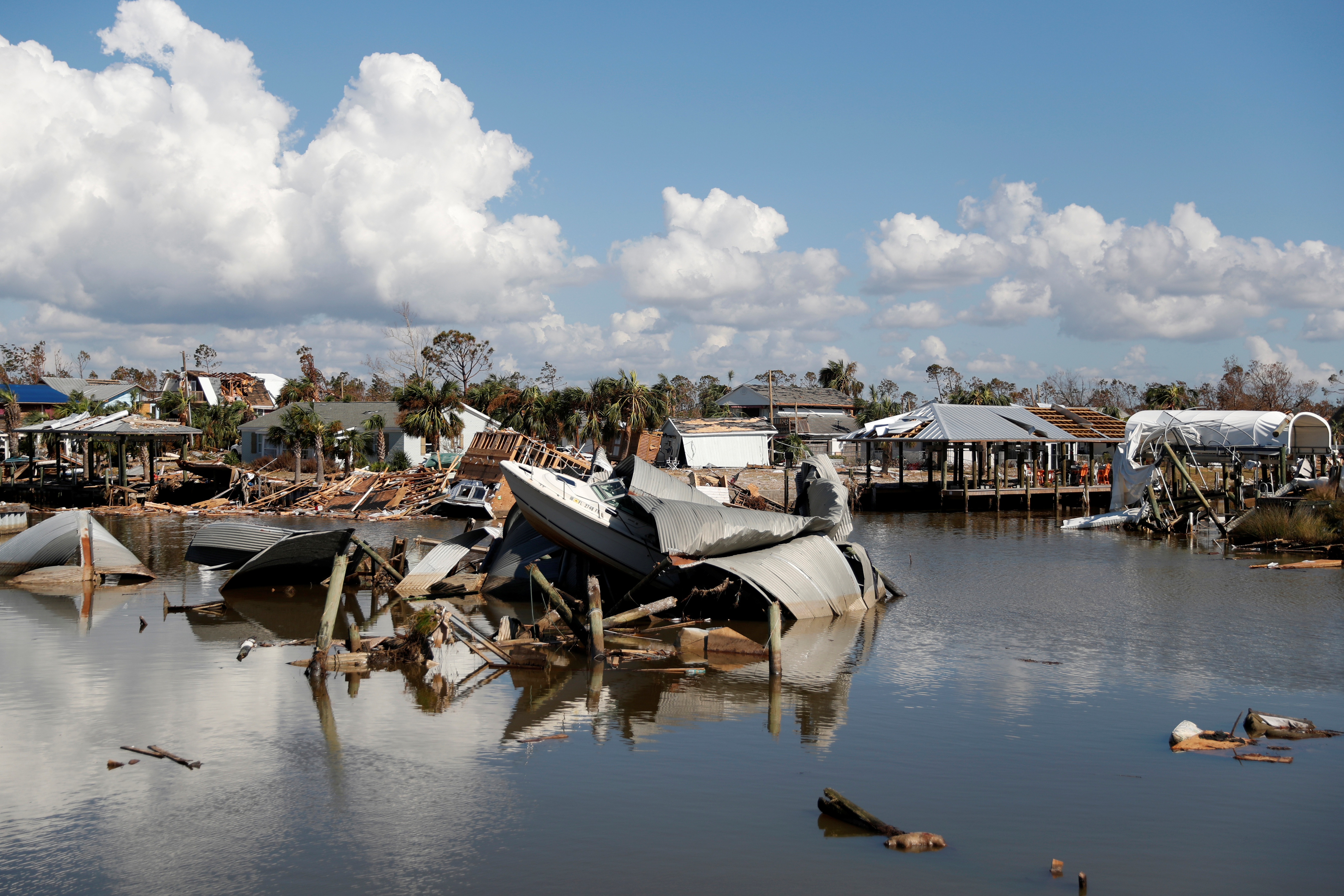 Damage caused by Hurricane Michael is seen in Mexico Beach