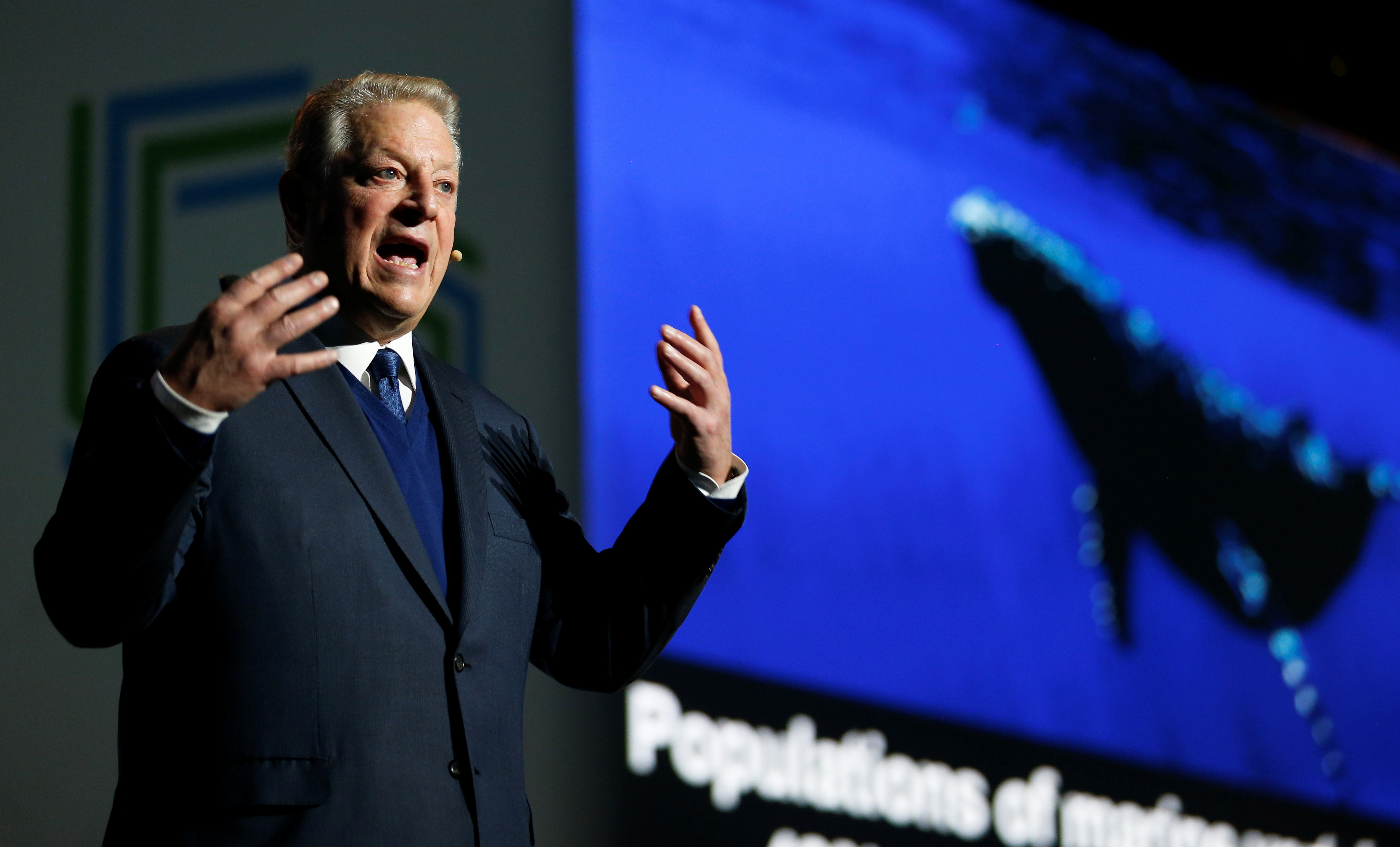 Al Gore, former U.S. Vice President and Climate Reality Project Chairman, speaks at the COP24 UN Climate Change Conference 2018 in Katowice