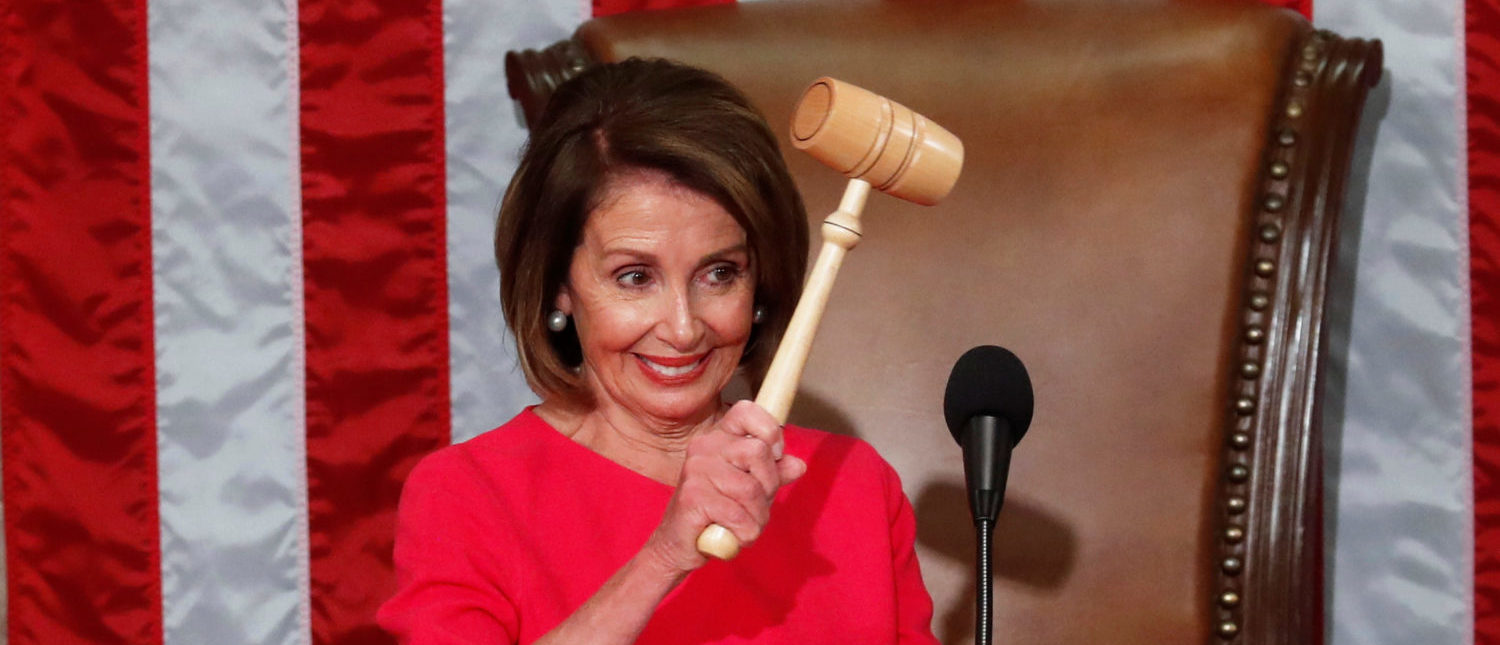 House Speaker-designate Nancy Pelosi (D-CA) holds the speaker's gavel after being elected speaker as the U.S. House of Representatives meets for the start of the 116th Congress inside the House Chamber on Capitol Hill in Washington, U.S., January 3, 2019 REUTERS/Leah Millis