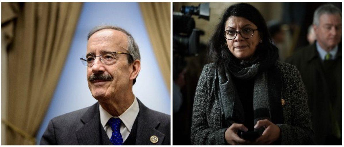 Rep. Eliot Engel and Rep. Rashida Tlaib (LEFT: BRENDAN SMIALOWSKI/AFP/Getty Images RIGHT: Alex Wong/Getty Images)