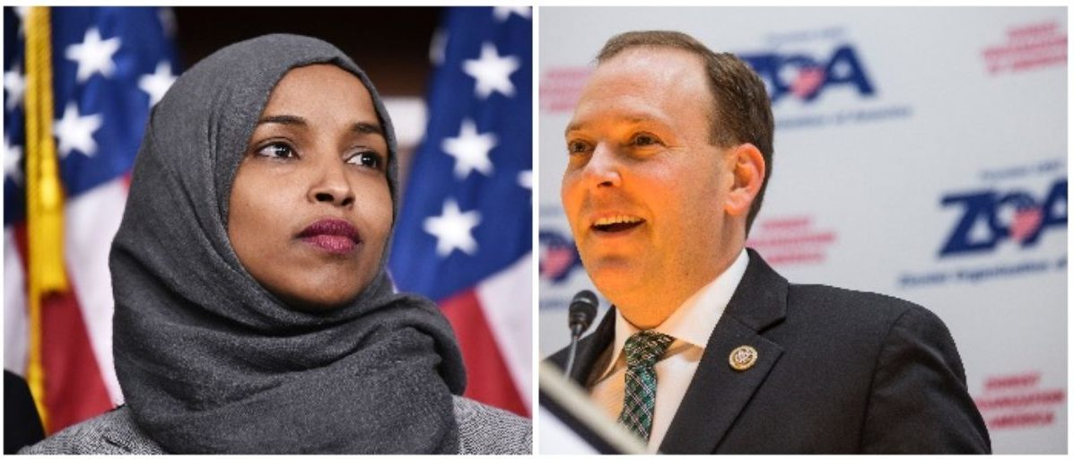 Rep. Illhan Omar and Rep. Lee Zeldin (LEFT: MANDEL NGAN/AFP/Getty Images RIGHT: Zach Gibson/Getty Images)