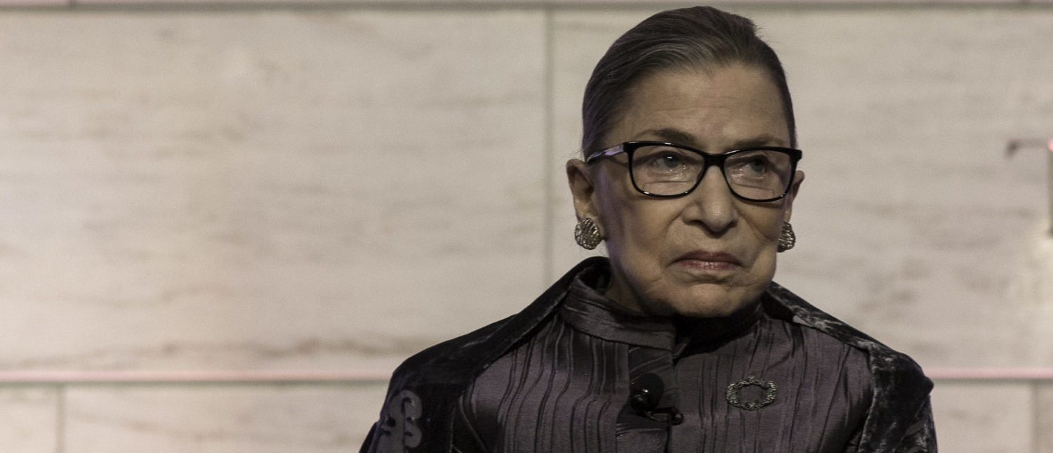 Justice Ruth Bader Ginsburg speaks in 2016 at a Supreme Court Historical Society event. (National Museum of American History/Flickr creative commons)