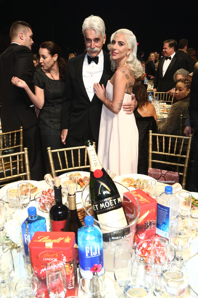 Sam Elliott and Lady Gaga attend the Critics' Choice Awards Sponsored By Lindt Chocolate at The Barker Hanger on January 13, 2019 in Santa Monica, California. (Photo by Tommaso Boddi/Getty Images for Lindt Chocolate)