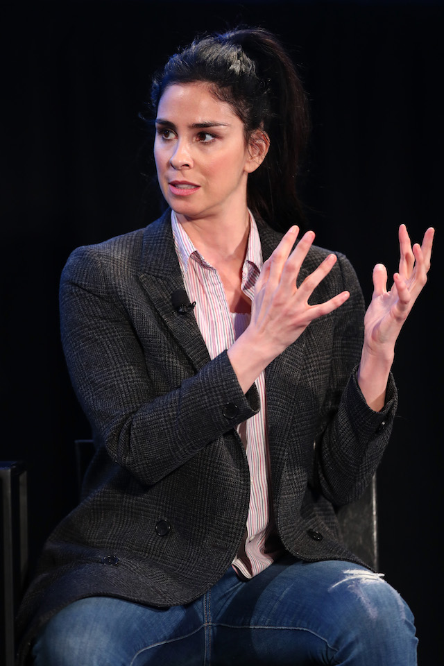 Actor Sarah Silverman speaks onstage during the 'State of the Union' event, part of Vulture Festival LA presented by AT&T at Hollywood Roosevelt Hotel on November 19, 2017 in Hollywood, California. (Photo by Joe Scarnici/Getty Images for Vulture Festival)