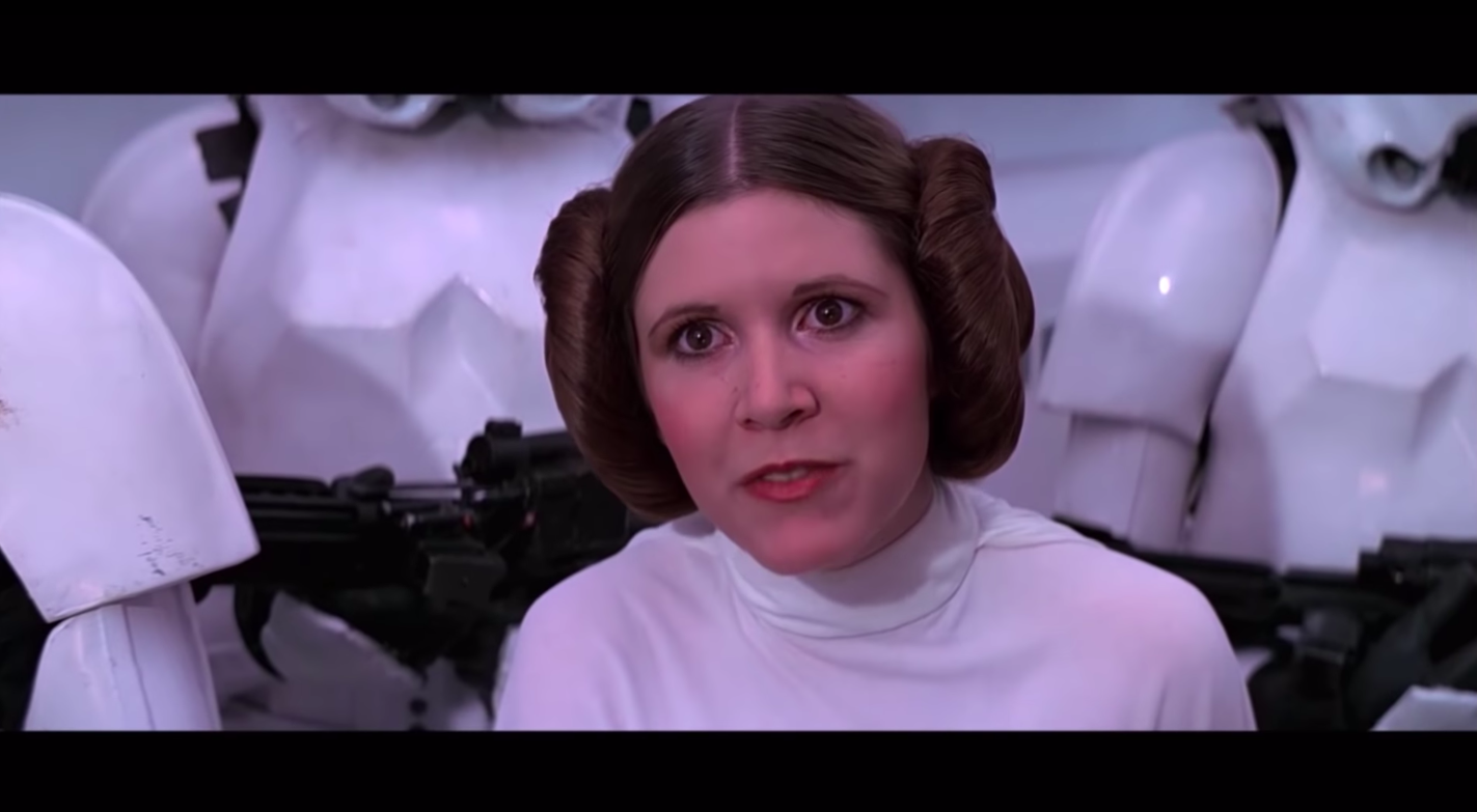 CARRIE FISHER Star Wars Tribute (Best Scenes)/ Movie Scene Provider/ YouTube
