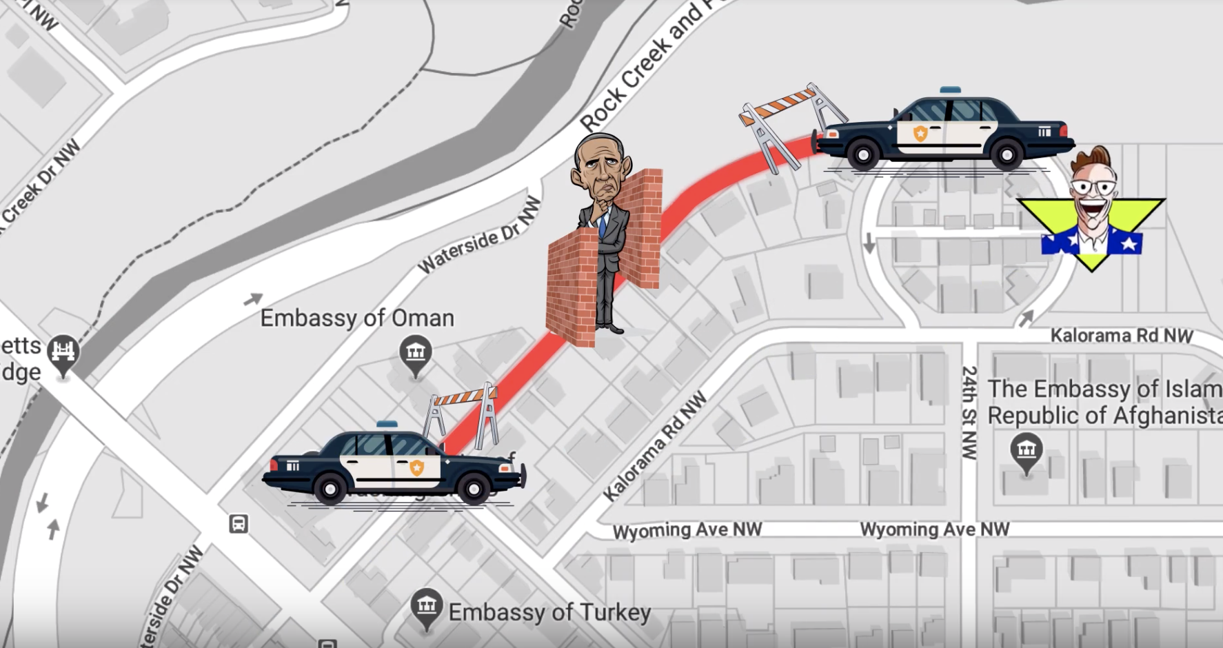 Is There A 10 Foot Wall Outside Obama S House We Went There To Find
