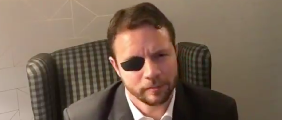 Republican Texas Rep. Dan Crenshaw excoriated Democratic Rep. Hank Johnson of Georgia on Sunday for degrading the Americans who voted for and support President Donald Trump. (Twitter/screen shot/Dan Crenshaw)