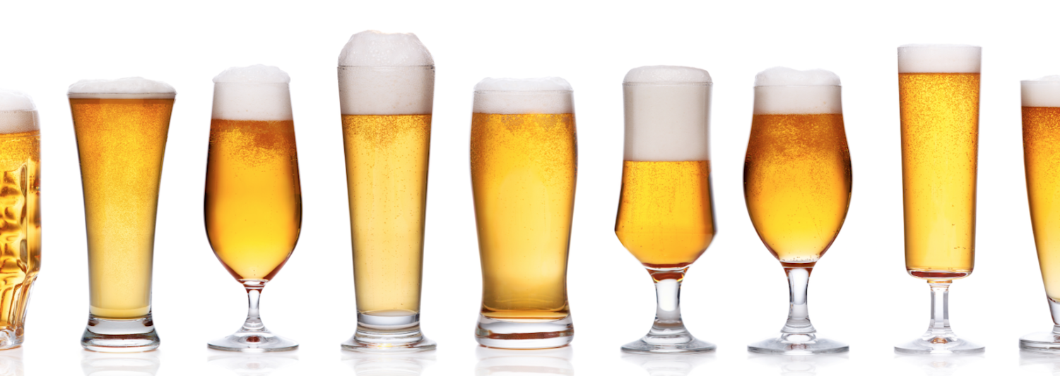 Beer comes in all shapes and sizes. Shutterstock.