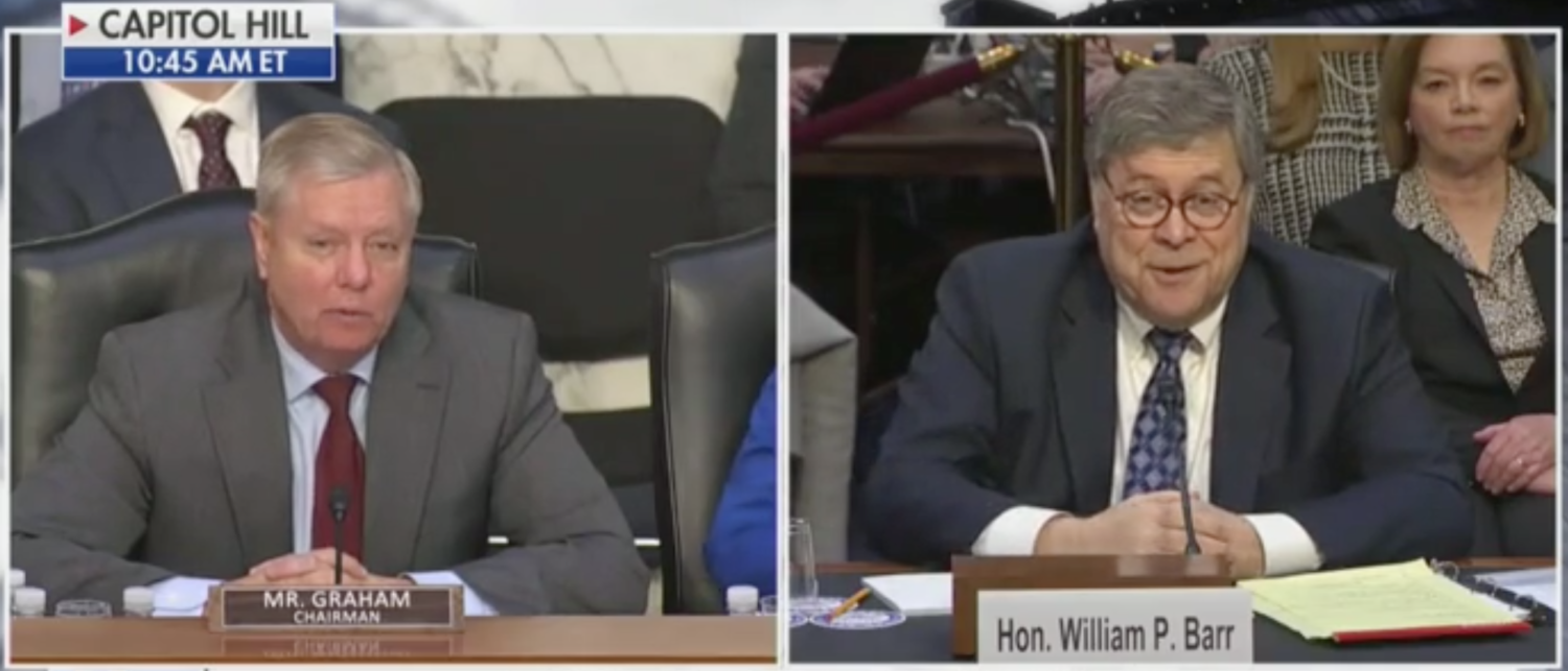 Lindsey Graham Breaks Up Barr Hearing With Wisecrack About Trump And A Cell Phone