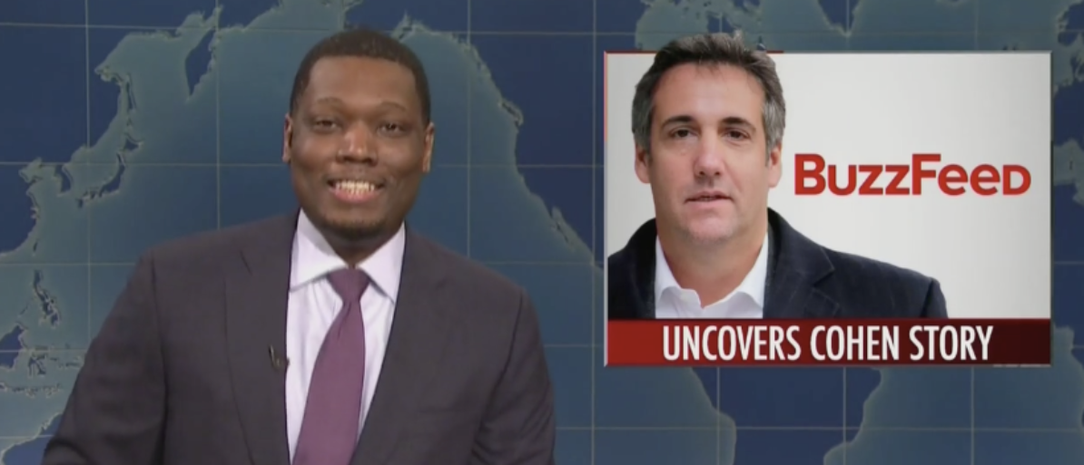 'Saturday Night Live' Mocks BuzzFeed Over Story Mueller Disputed