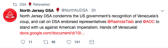Democratic Socialists of America (Screenshot: Twitter)