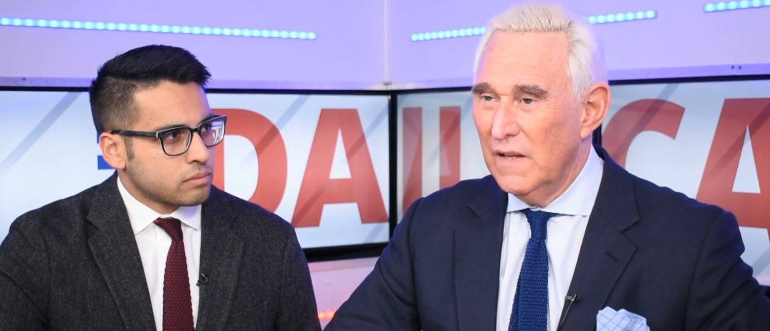 Roger Stone talks to The Daily Caller