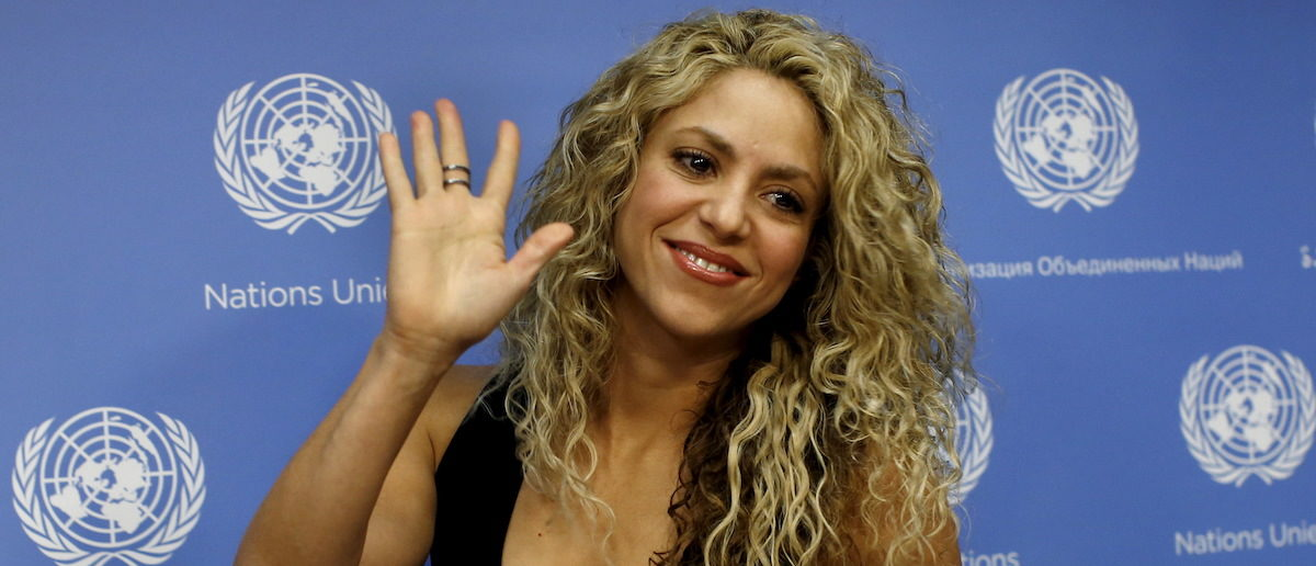 Colombian singer and UNICEF Goodwill Ambassador Shakira appears at a news conference at United Nations headquarters in New York, September 22, 2015. Shakira and UNICEF were calling for the urgent need for increased investment in early childhood development ahead of 70th United Nations General Assembly which convenes September 28. REUTERS/Mike Segar