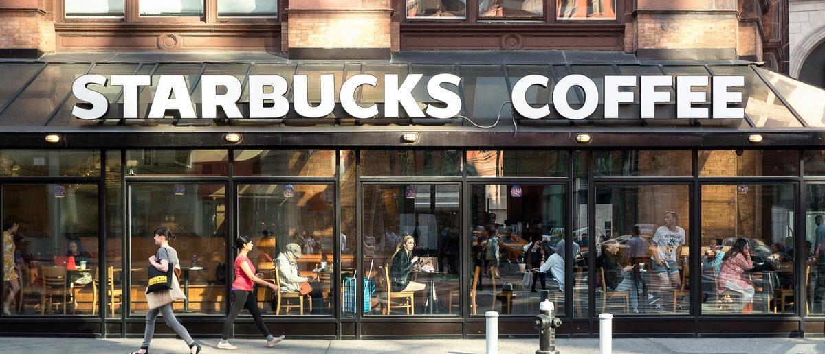 Starbucks storefront in New York City. (Shutterstock/poi3)