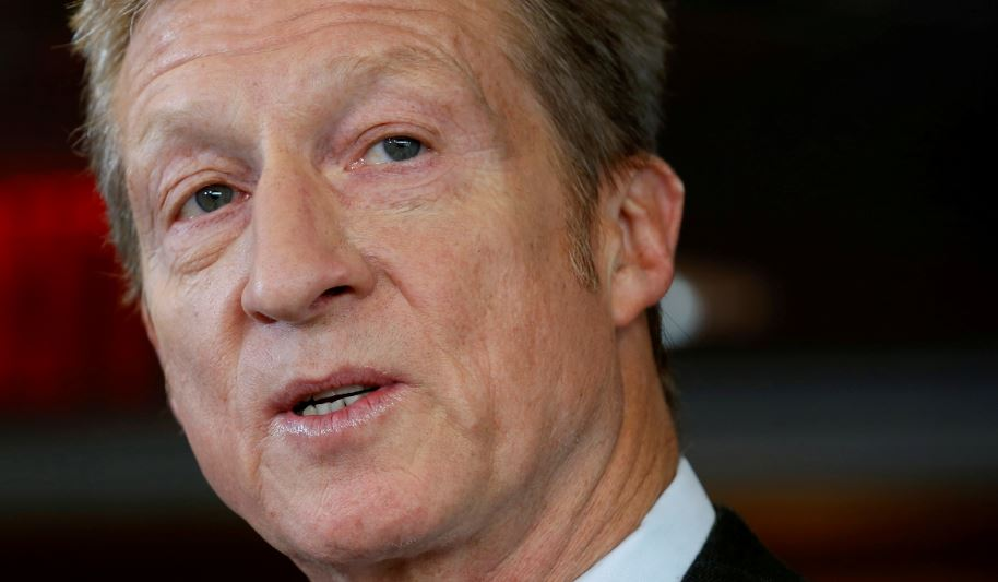 Billionaire Democrat Tom Steyer will not run for president in 2020