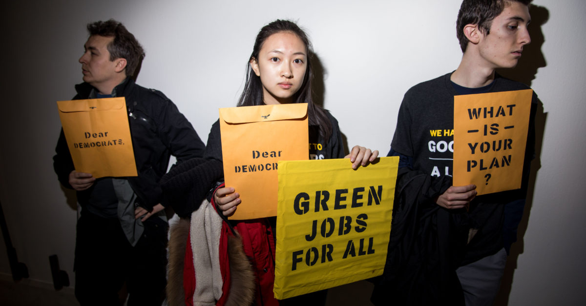 Democrats push for a Green New Deal to combat climate change