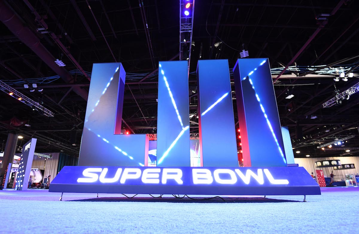 General overall view of Super Bowl LIII letters at the NFL Experience at the Georgia World Congress Center. Mandatory Credit: Kirby Lee-USA TODAY Sports/ Reuters