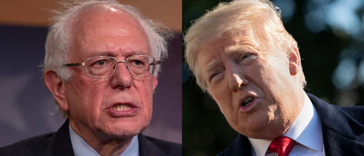 Both Independent Vermont Sen. Bernie Sanders and President Donald Trump have criticized the pharmaceutical industry for high drug prices, but Sanders called on Trump to support his new drug cost legislation Jan. 10, 2019. Tasos Katopodis/Getty Images and Chris Kleponis - Pool/Getty Images