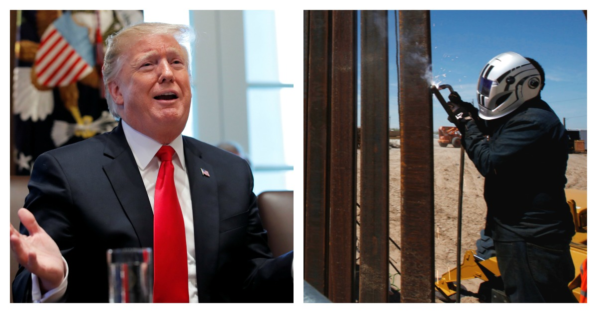 Students give their thoughts on Trump's plan to tighten border security, but find out the quotes were from Democrats. Left, REUTERS/Jim Young/ Right, REUTERS/Jose Luis Gonzalez