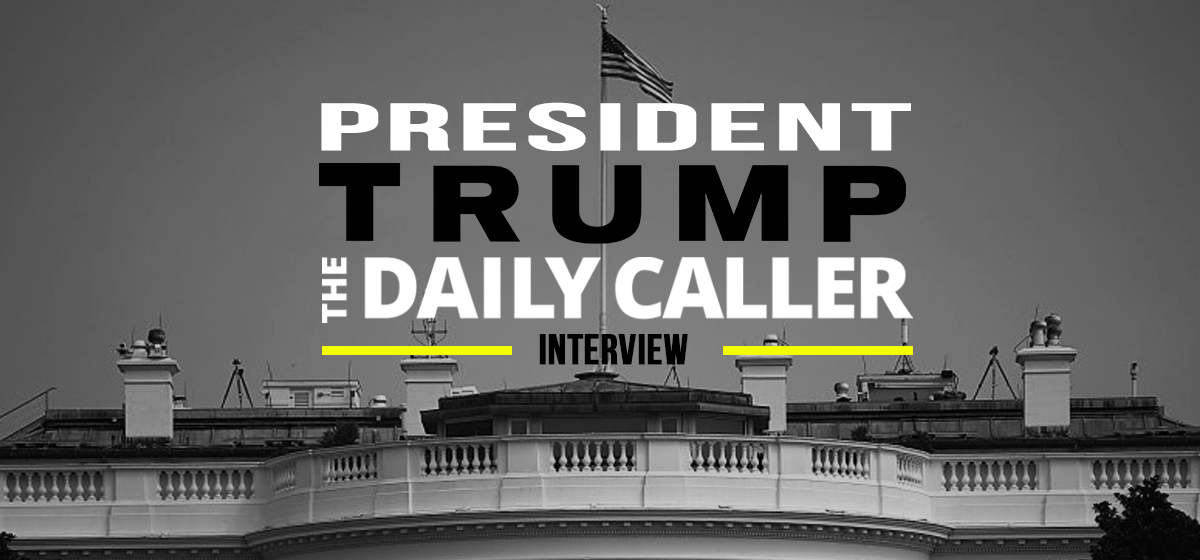 Trump gave an exclusive Oval Office interview to The Daily Caller on Jan. 30.