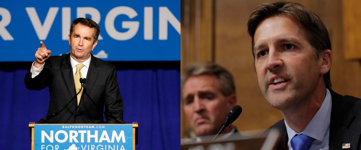 Sen. Ben Sasse and VA Gov Ralph Northam. Reuters/Jim Bourg. Reuters/Aaron Bernstein