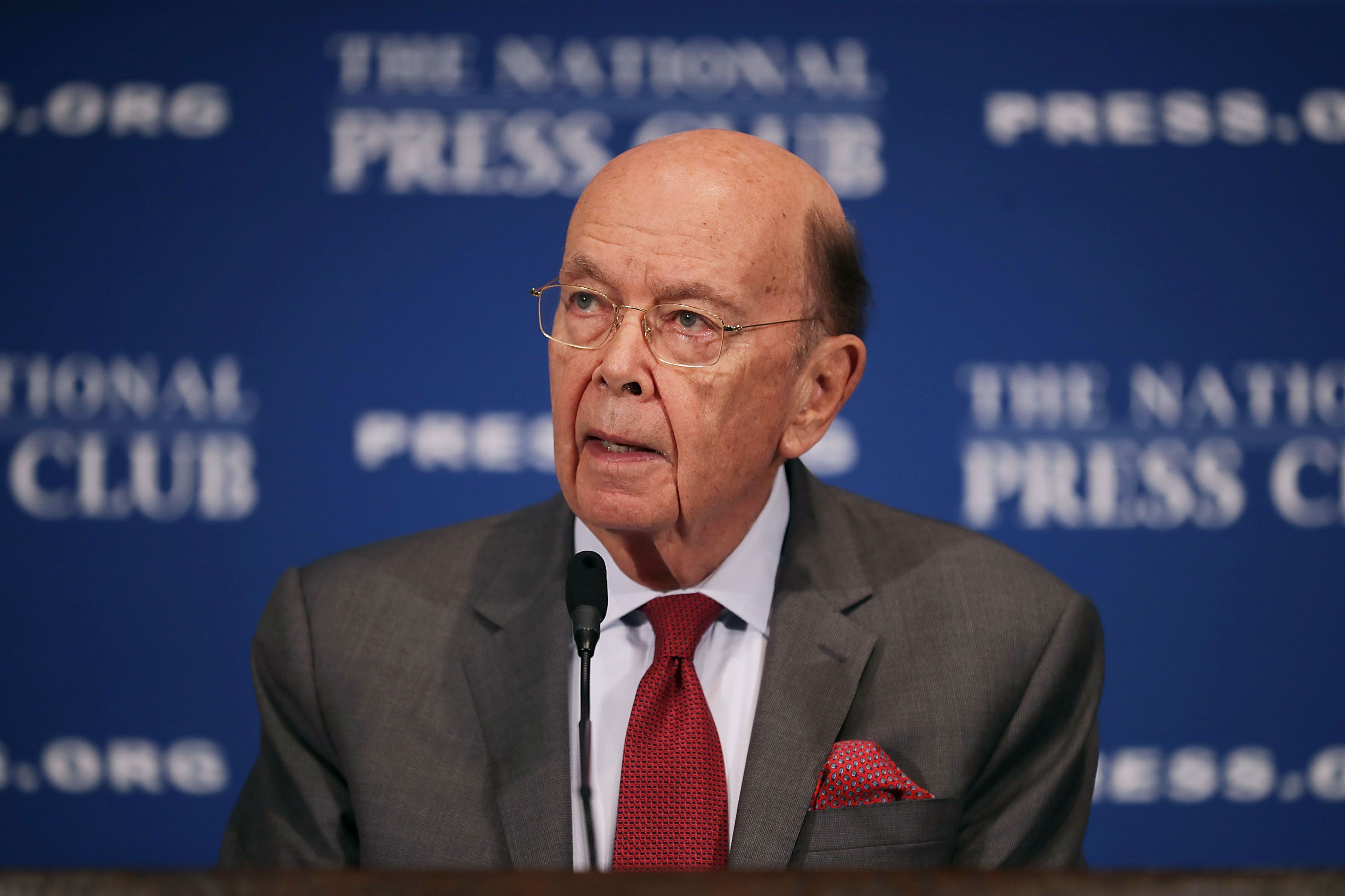 Commerce Secretary Wilbur Ross delivers keynote remarks during the Newsmakers Luncheon at the National Press Club May 14, 2018 in Washington, DC. (Chip Somodevilla/Getty Images)