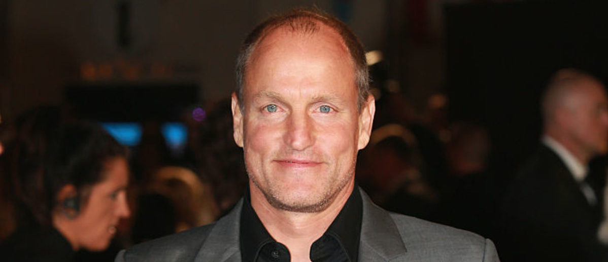 """LONDON, ENGLAND - NOVEMBER 05: Actor Woody Harrelson attends """"The Hunger Games: Mockingjay Part 2"""" UK Premiere at the Odeon Leicester Square on November 5, 2015 in London, England. (Photo by Chris Jackson/Getty Images)"""