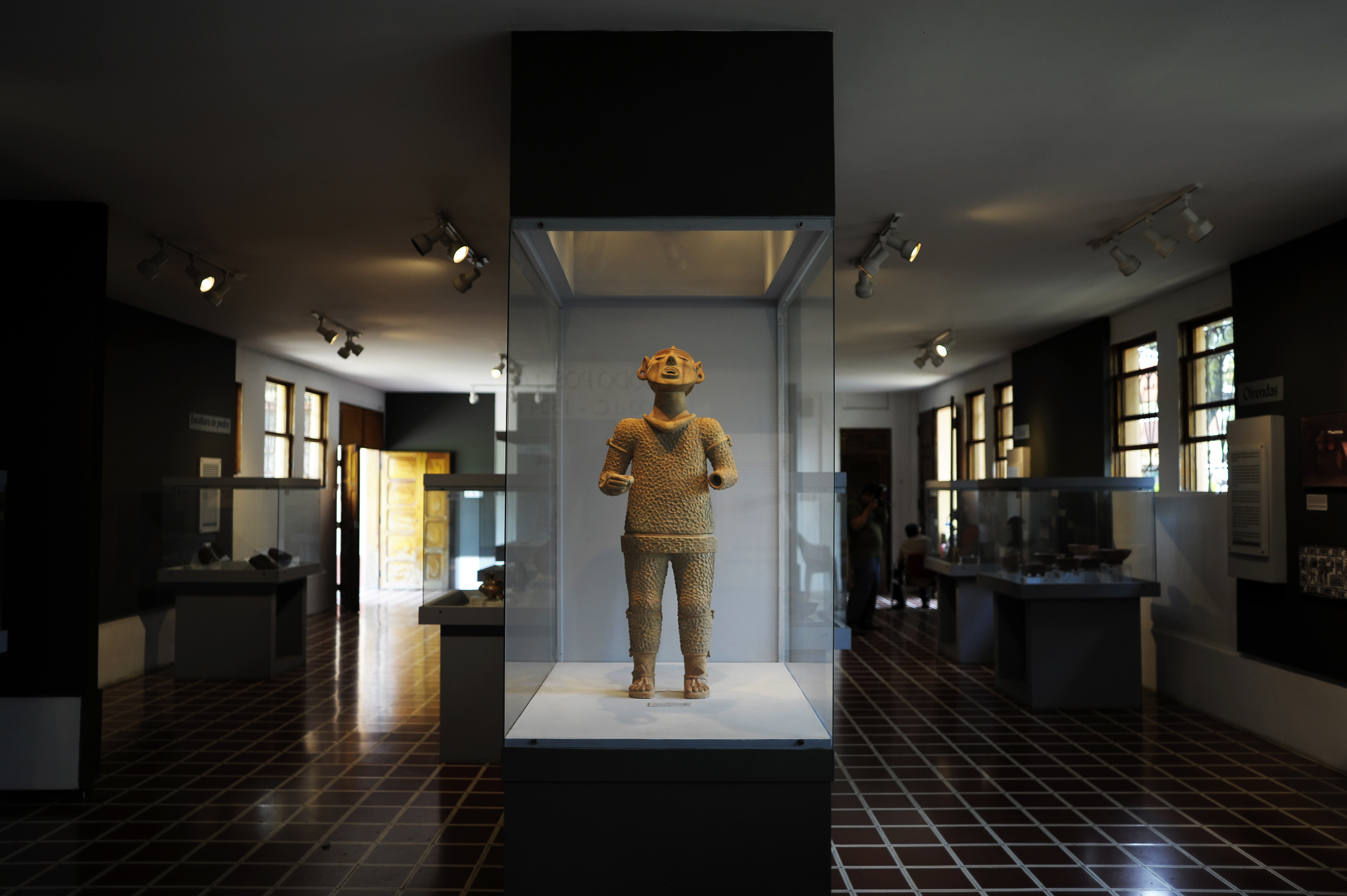 An image of ancient Mayan and Aztec god Xipe Totec, at the museum of El Tazumal archaeological site in Chalchuapa, 79 km west of San Salvador, on June 28, 2012. (CABEZAS/AFP/GettyImages)