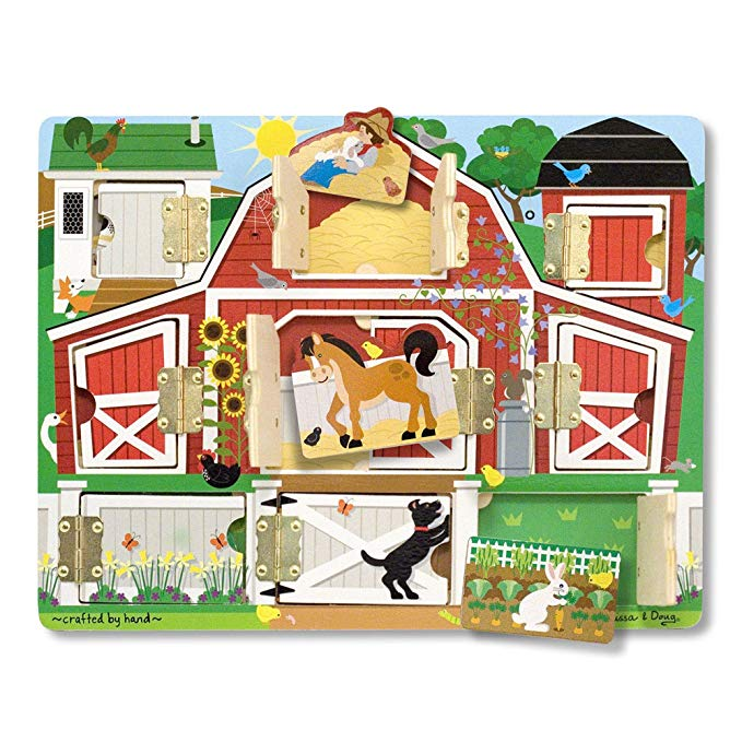 Normally $17, this barn animal board is 46 percent off today (Photo via Amazon)