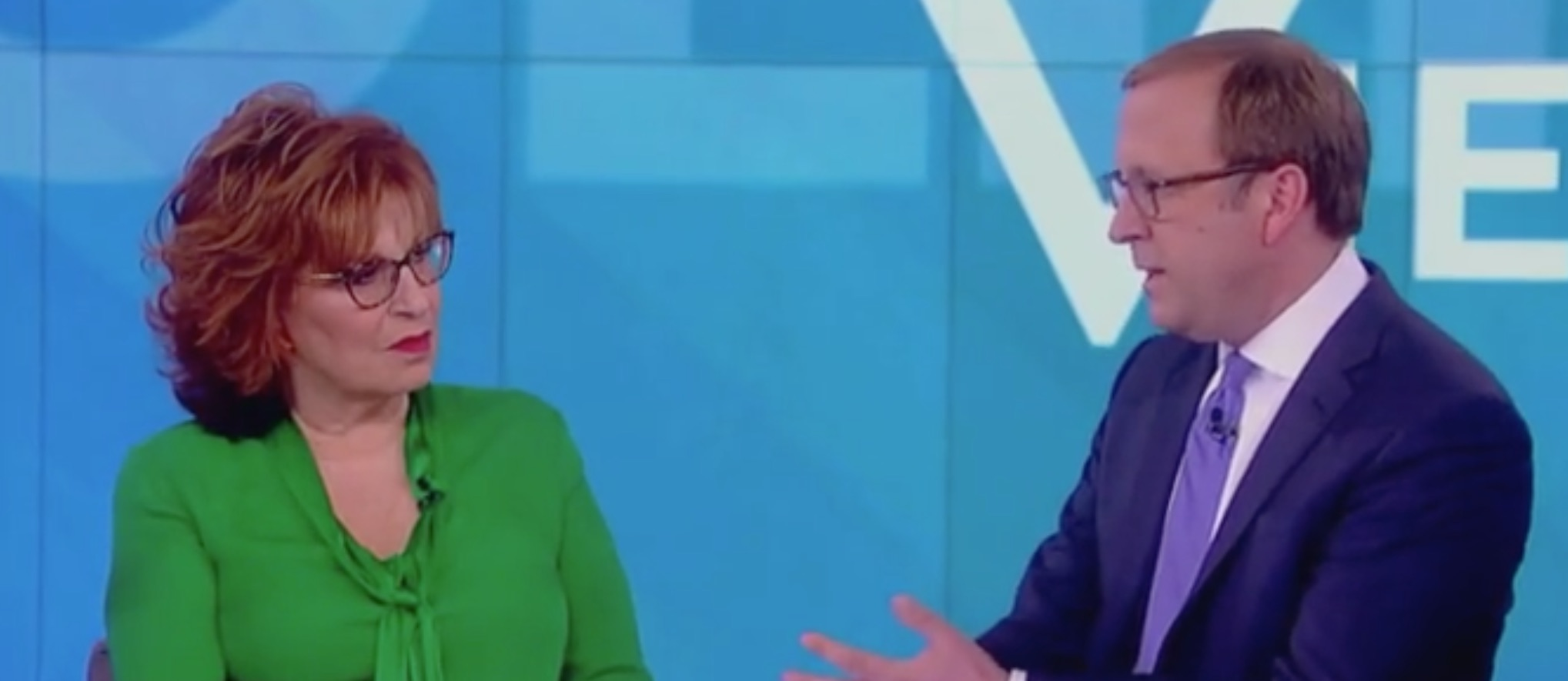 "Joy Behar appears on ABC's ""The View"" with Jonathan Karl, 1'/14/2019"