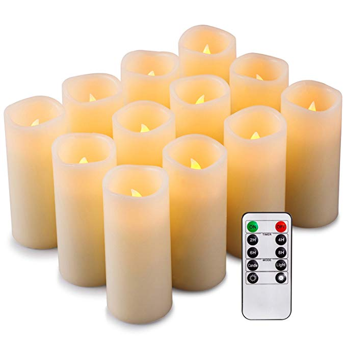 Normally $40, this 12-set of flameless candles is 30 percent off (Photo via Amazon)