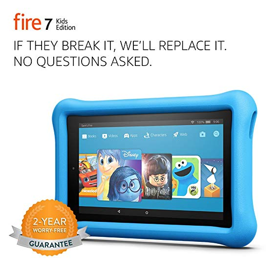 Normally $100, this Fire 7 Kids Edition is 30 percent off (Photo via Amazon)