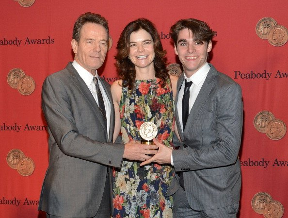 Bryan Cranston, Betsy Brandt and RJ Mitte attend 73rd Annual George Foster Peabody awards at The Waldorf Astoria on May 19, 2014 in New York City. (Photo by Slaven Vlasic/Getty Images)