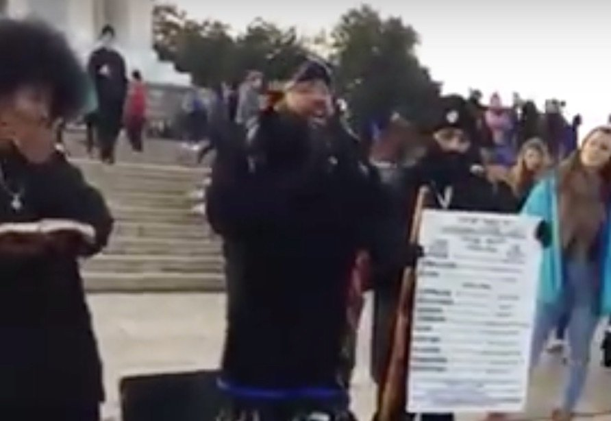 Black Hebrew Israelites clash with Native Americans, Catholic students at the Lincoln Memorial. Screen Shot