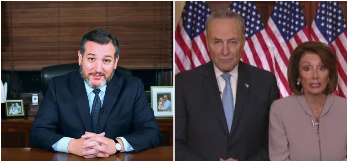 Ted Cruz: The Pelosi-Schumer Response To Trump Looked Like A Hostage Video