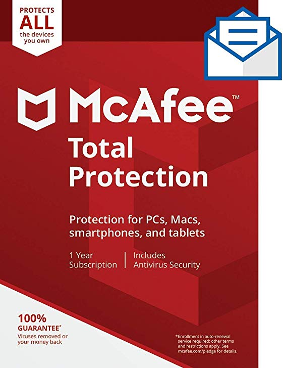 Normally $100, this McAfee protection is 70 percent off (Photo via Amazon)