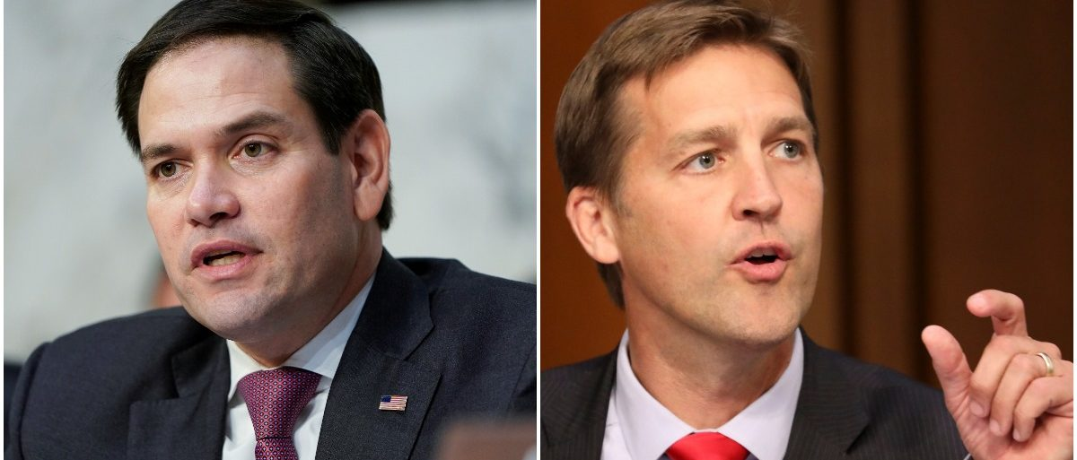 Sens. Marco Rubio and Ben Sasse (LEFT: Reuters/Joshua Roberts RIGHT: Reuters/Chris Wattie)
