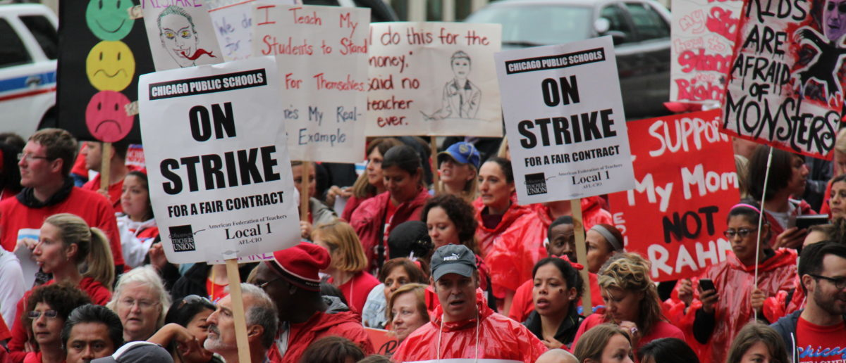 Find out what is driving the potential teacher strike in Los Angeles. SHUTTERSTOCK/ Atomazul