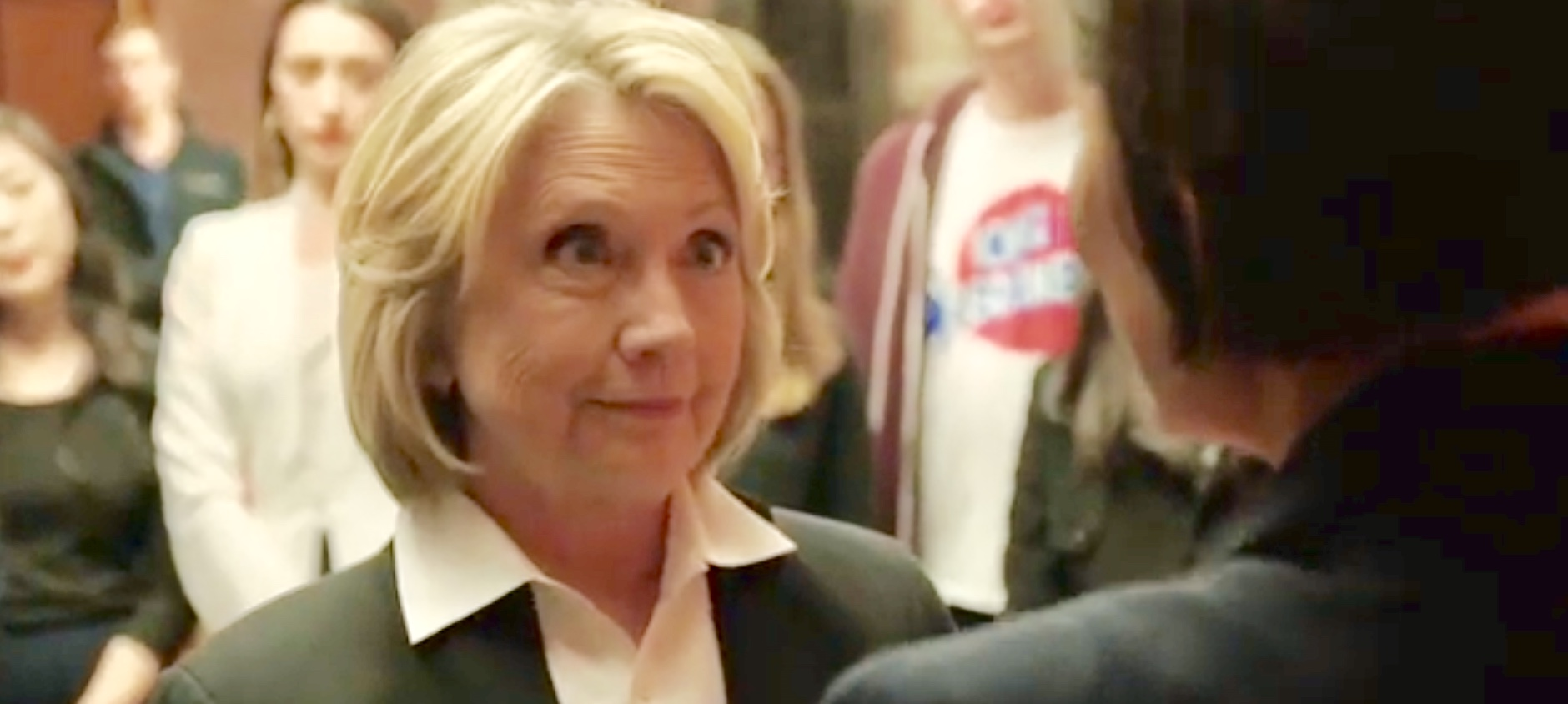 """Former Secretary of State Hillary Clinton speaks to Showtime's """"Circus"""" about the border wall, YouTube screen capture, Feb. 9, 2019."""
