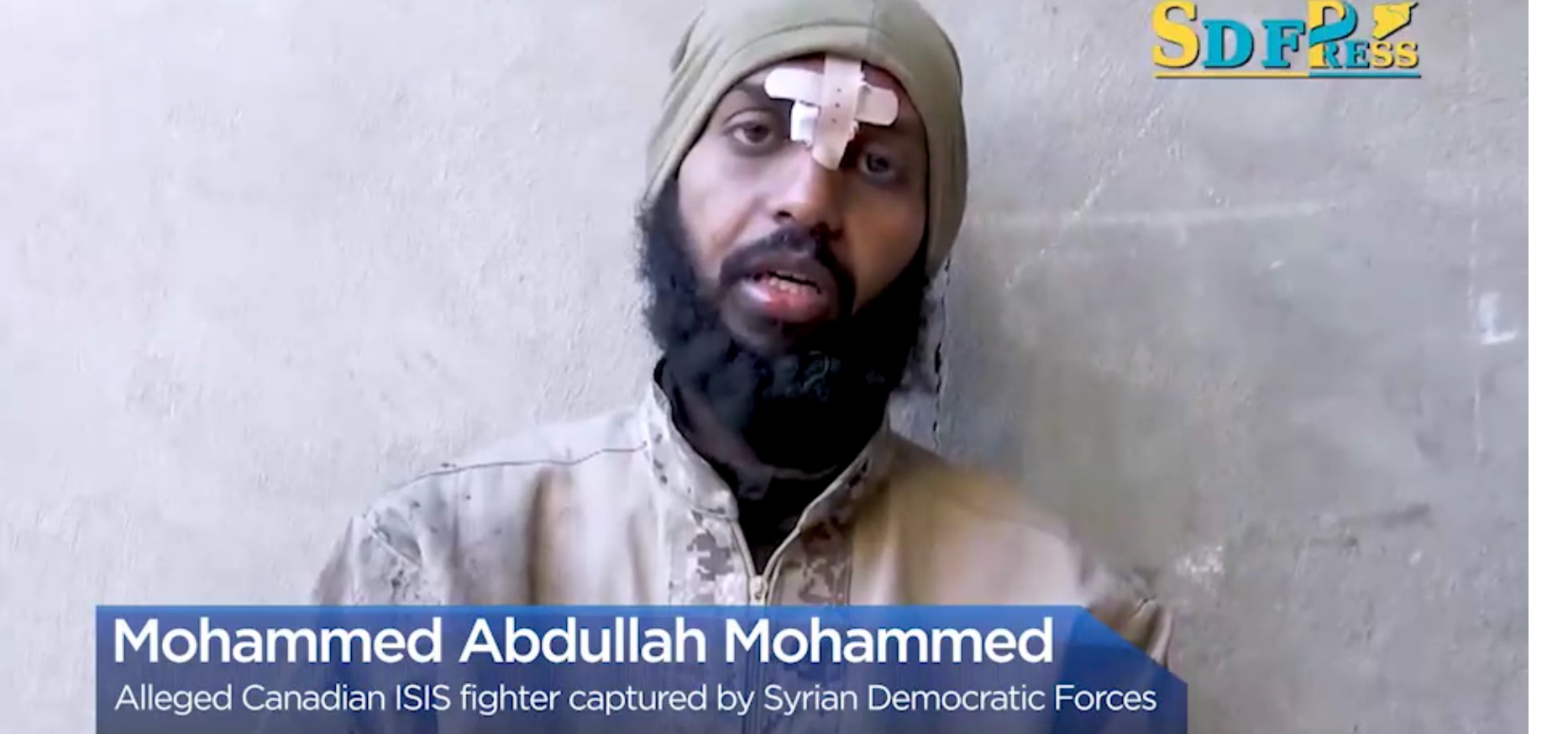 Captured ISIS mercenary Mohammed Abdulla Mohammed speaks about his service to ISIS. Global News screenshot, Feb. 17, 2019.