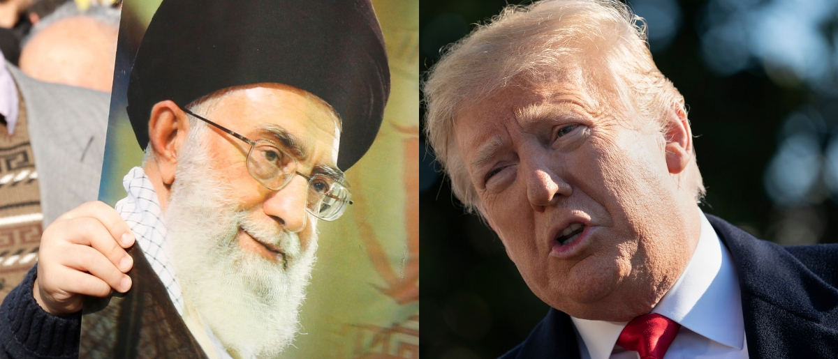 Ayatollah Ali Khameini (L) leads Iran, and President Donald Trump (R) leads the U.S. ATTA KENARE/AFP/Getty Images and Chris Kleponis - Pool/Getty Images