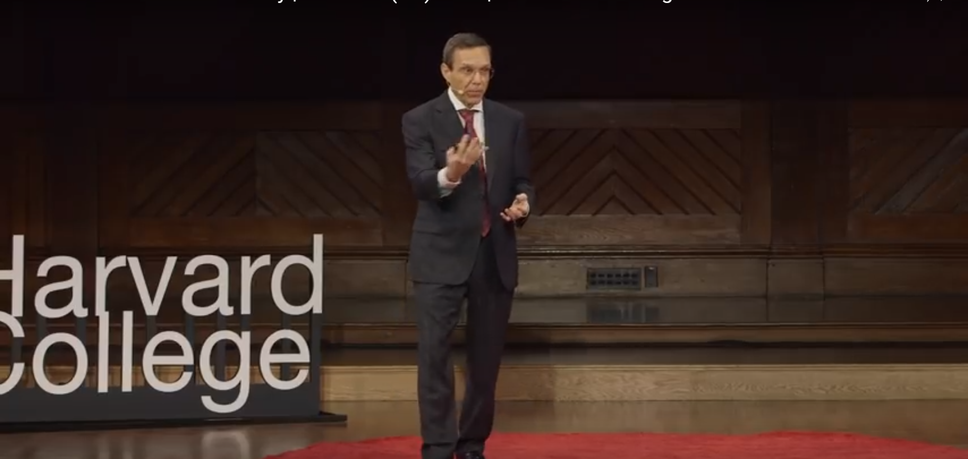 Pictured is Avi Loeb giving a Ted Talk. Screenshot/YouTube/Tedx Talks
